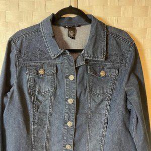 NWOT Baccini denim Jacket Petite XL